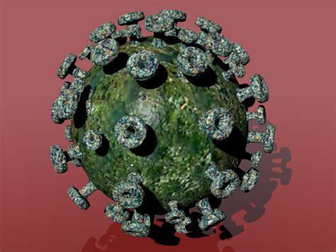 membuat model virus 3d virus green slime 3d model sharecg