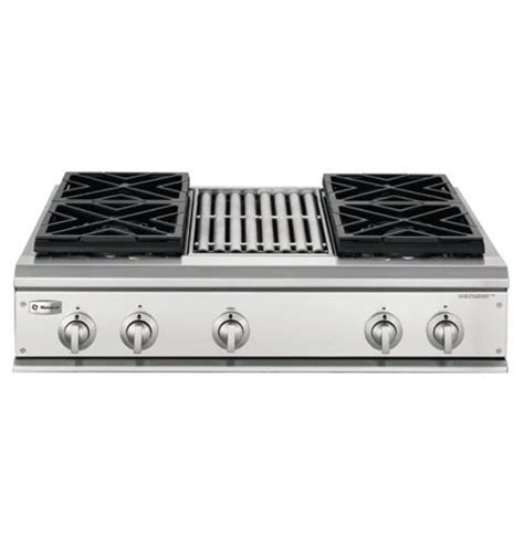gas cooktop with grill 36 ge monogram 174 36 quot professional gas cooktop with 4 burners