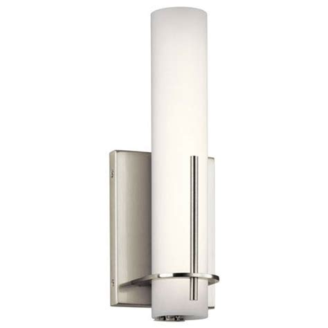 Cabinet Traverso by Traverso Brushed Nickel Led Wall Sconce Elan Flush To Wall