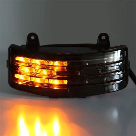 harley led tail light smoke tri bar fender led tail brake signal light for
