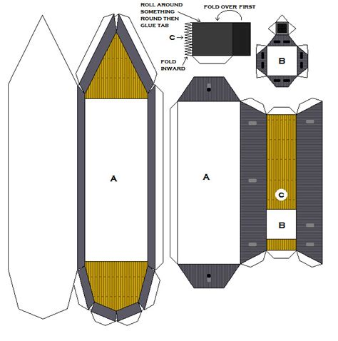 paper pattern niacl papercraft css atlanta by falcon01 on deviantart