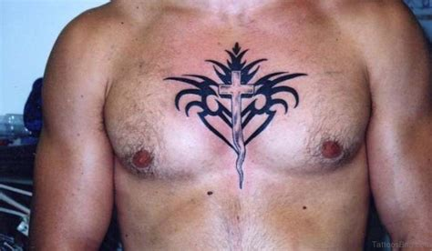 best looking tribal tattoos 59 looking cross tattoos designs for chest