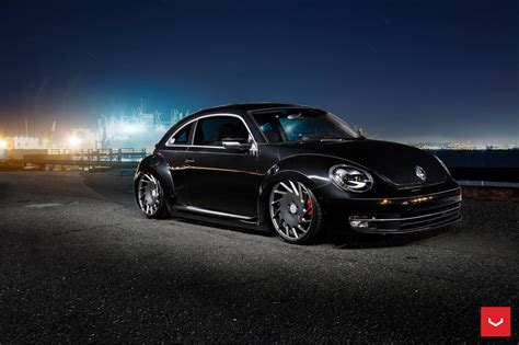 volkswagen bug wheels volkswagen beetle sits on vossen wheels automotorblog