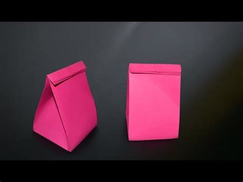 How To Make A Paper Bag From A4 Paper - origami gift bag in br