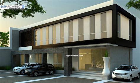 desain gudang material bangunan kantor minimalis 2 lantai untuk pergudangan