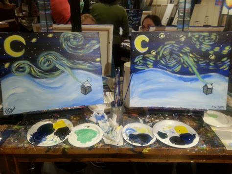 muse paint bar providence calendar my painting on the left my boyfriends on the right yelp