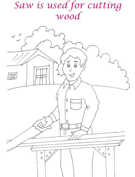 chainsaw coloring pages