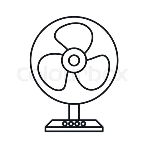 Fan Outline by Electric Table Fan Icon In Outline Style Isolated On White Background Stock Vector Colourbox