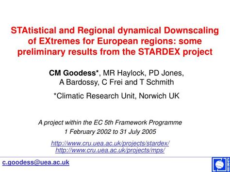 Statistics Of Extremes ppt statistical and regional dynamical downscaling of