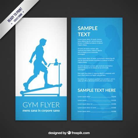 Flyer Vorlage Blau Blau Fitness Studio Flyer Der Kostenlosen Vektor