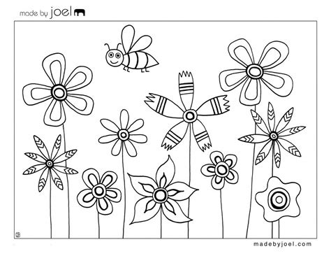 Flower Bee Coloring Book