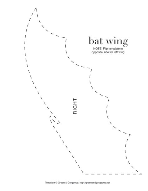 bat template wings www pixshark com images galleries