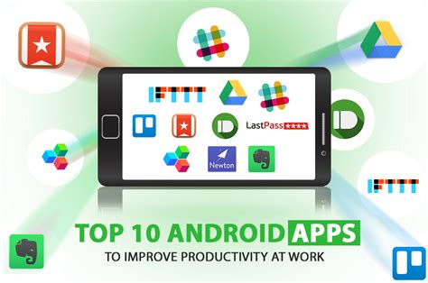 top ten android top 10 android apps to improve productivity at work