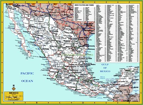 map of mexico and cities map of mexico with cities and towns