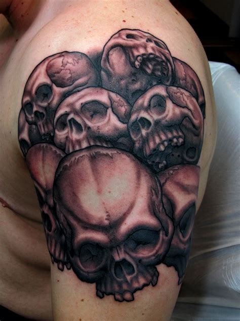 tattoo of skulls skulls chris black