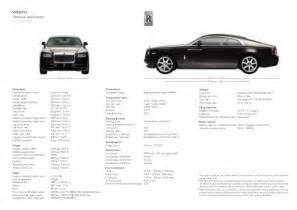 Rolls Royce Wraith Dimensions Rolls Royce Wraith Scheda Tecnica