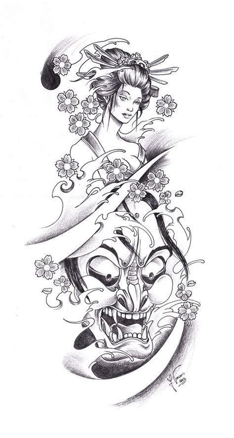 tattoo geisha sketch 52 japanese geisha tattoo designs and drawings with images