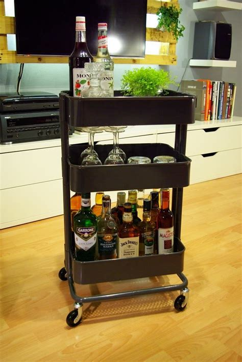 Mini Bar Table Ikea Ikea Raskog Diy Minibar Home Stuff Pinterest Ikea Raskog Raskog Cart And Bar Carts
