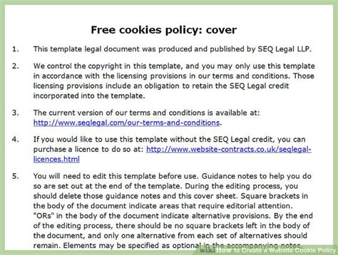 How to create a website cookie policy with sample cookie policy