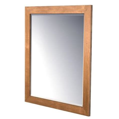 kraftmaid bathroom vanity mirrors kraftmaid 36x36 in framed wall mirror in praline stain