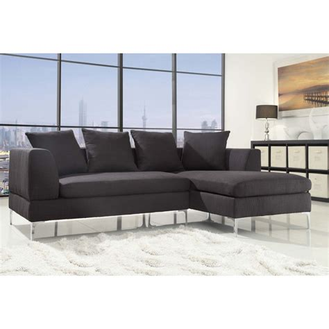 1 046 00 Zola Contemporary Charcoal Sectional Sofa With Charcoal Sectional Sofa