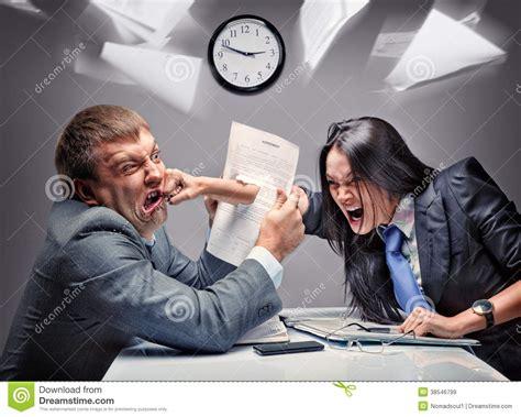 office fight stock image image of frustration desk