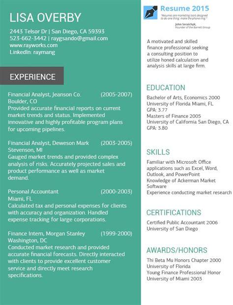 resume builder for experienced resume exles for 2015 http www resume2015