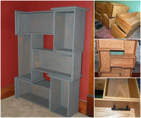Diy Drawer by Make Recycled Diy Drawer Shelves Beesdiy