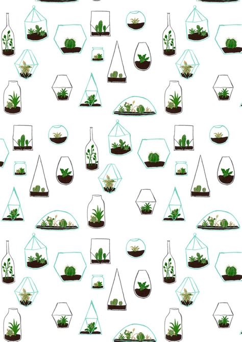 Creating Inspiring Repeats Skillshare Iphone Semua Hp simple terrarium pattern drawing proves you can make