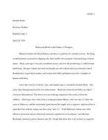 Human Trafficking Essay by Human Trafficking In Malaysia Essay