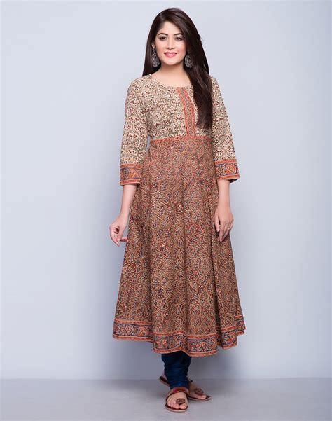 Dining Room Sets Discount by Buy Fabindia Rust Cotton Kalamkari Empireline Long Kurta Online Fabindia Com