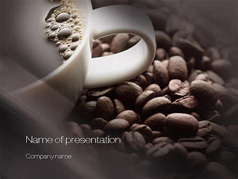 Coffee Beans Presentation Template For Powerpoint And Keynote Ppt Star Coffee Powerpoint Template