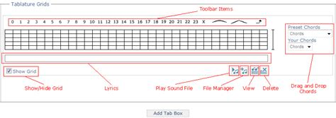 layout grid 2d tab tabstar online guitar tablature software create