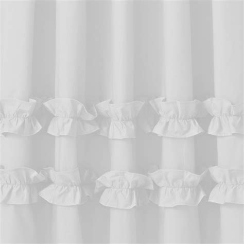 white ruffle curtains 96 ruffle white 96 quot curtain the land of nod