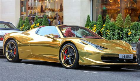 gold ferrari 458 the gold supercars of london gold blog