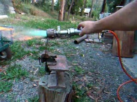 gas propane kiln / forge burner & plumbing youtube
