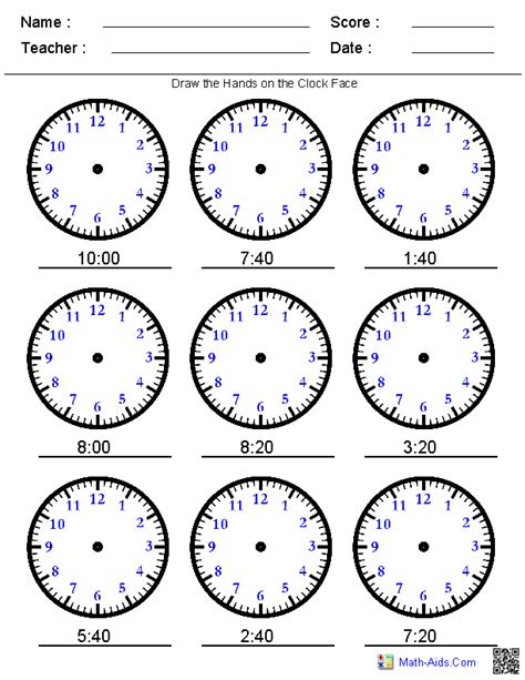 printable clock activities draw the hands on the clock you pick the times sfazdgf