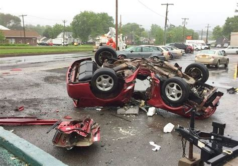moesha dies in car crash firefighters free driver after car crashes through pole flips in mattydale syracuse