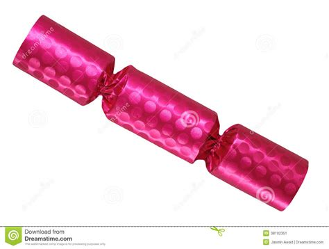 pink christmas cracker stock image image of shiny nobody