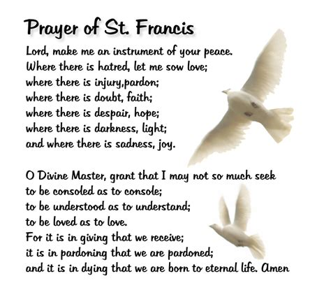 prayer of st make me a channel of your peace serendipity