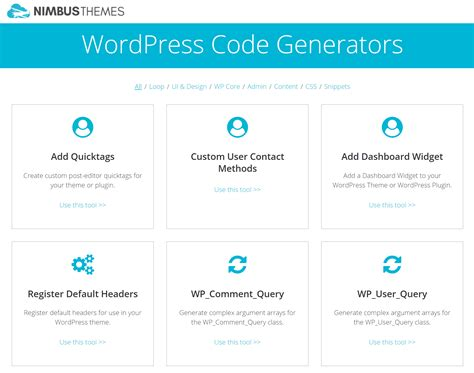 wordpress layout generator how a wordpress code generator can speed up development