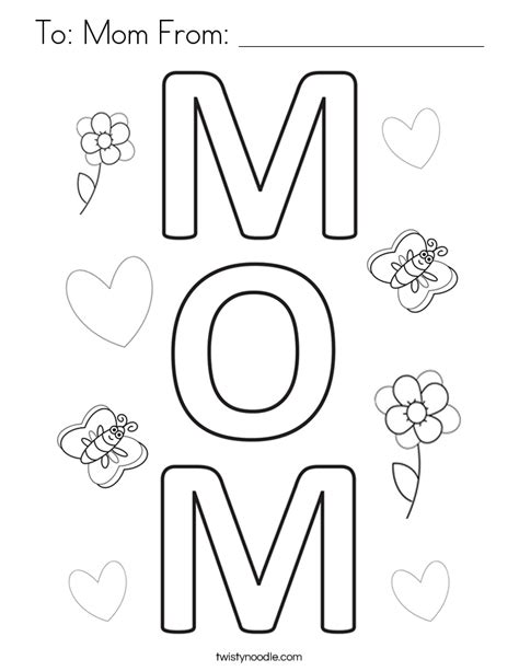 coloring pages for mom to mom from coloring page twisty noodle