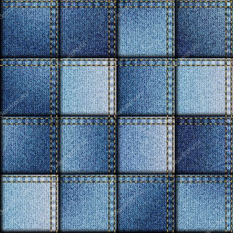 Denim Patchwork Fabric - patchwork of denim fabric stock vector 169 kastanka 69077957
