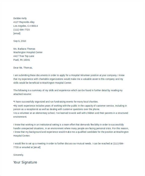 Parent Volunteer Letter Exles application letter hospital 28 images how to write an