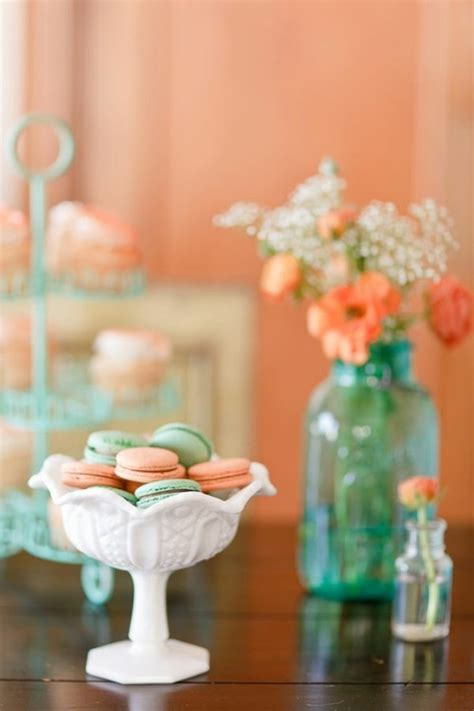 inspiration board 102 peach and mint weddings and