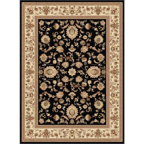 lowes rugs 5x8 shop tayse sensation black rectangular indoor area rug common 5 x 7 actual 5 25 ft w x 7 25