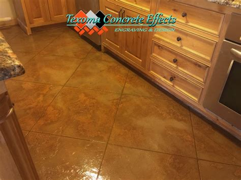Flooring Wichita Falls Tx by Stained Concrete Overlay Tile Design Kitchen Floor By