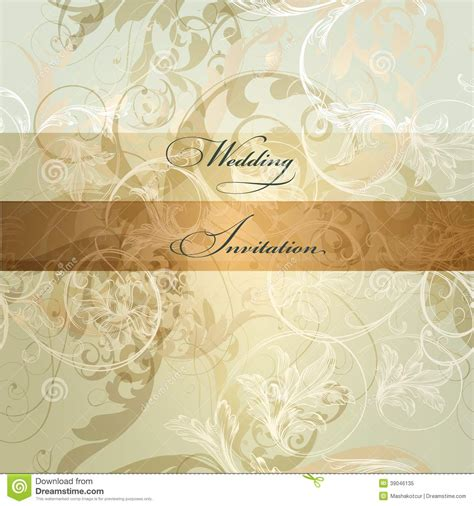 Wedding Card Ornaments by Wedding Invitation Card With Ornament Stock Vector Image