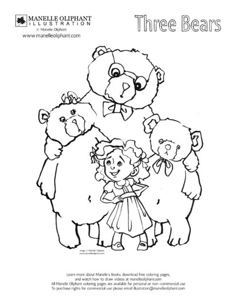 printable coloring pages goldilocks three bears goldilocks and the three bears mask templates sketch