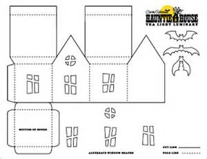 free printable haunted house template best photos of advanced 3d paper foldable houses 3d